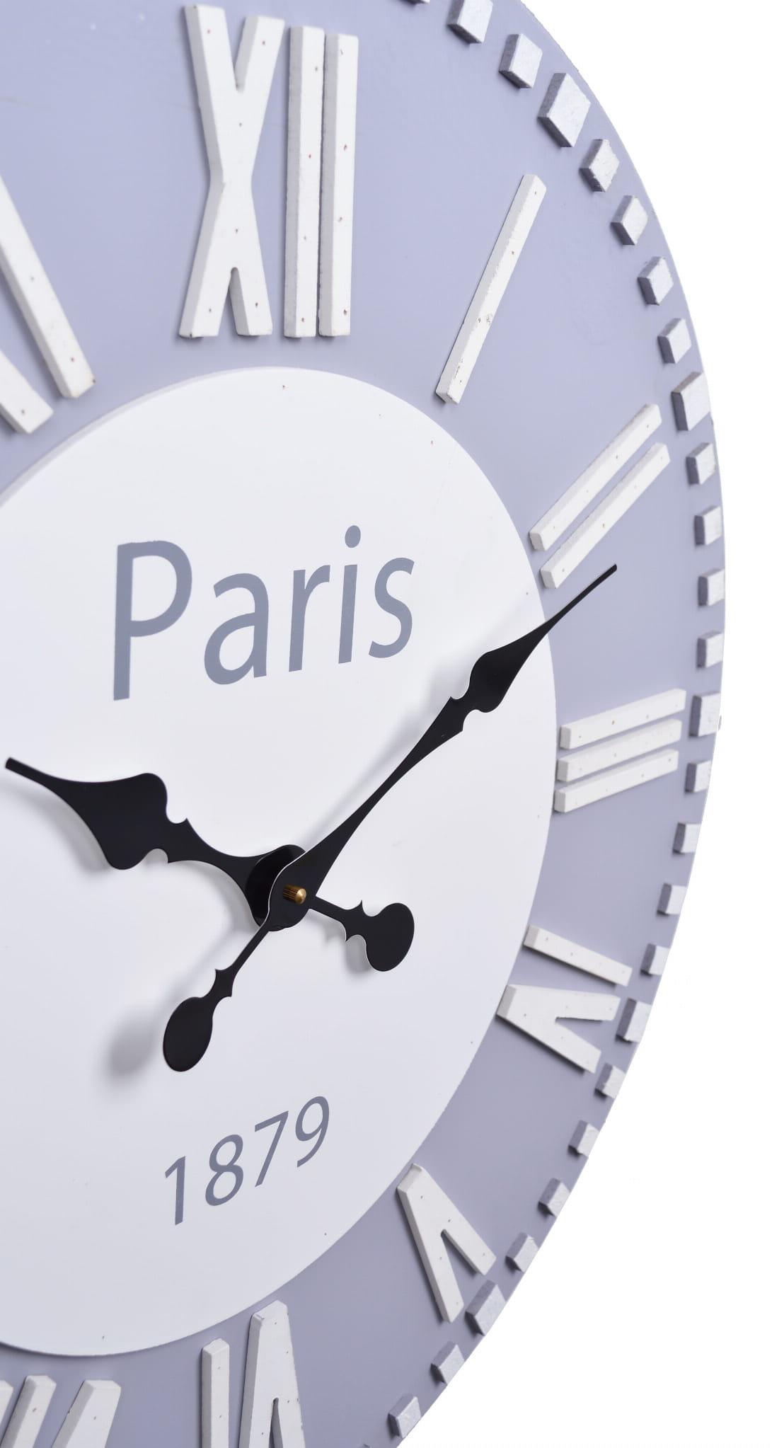 ZEGAR ŚCIENNY MAxI PARIS SZARY 23