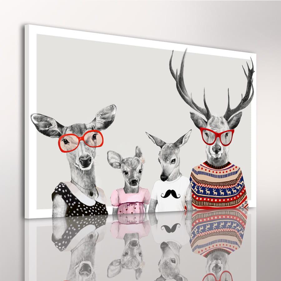 Obraz/ grafika na płótnie Rodzinka jeleni 24