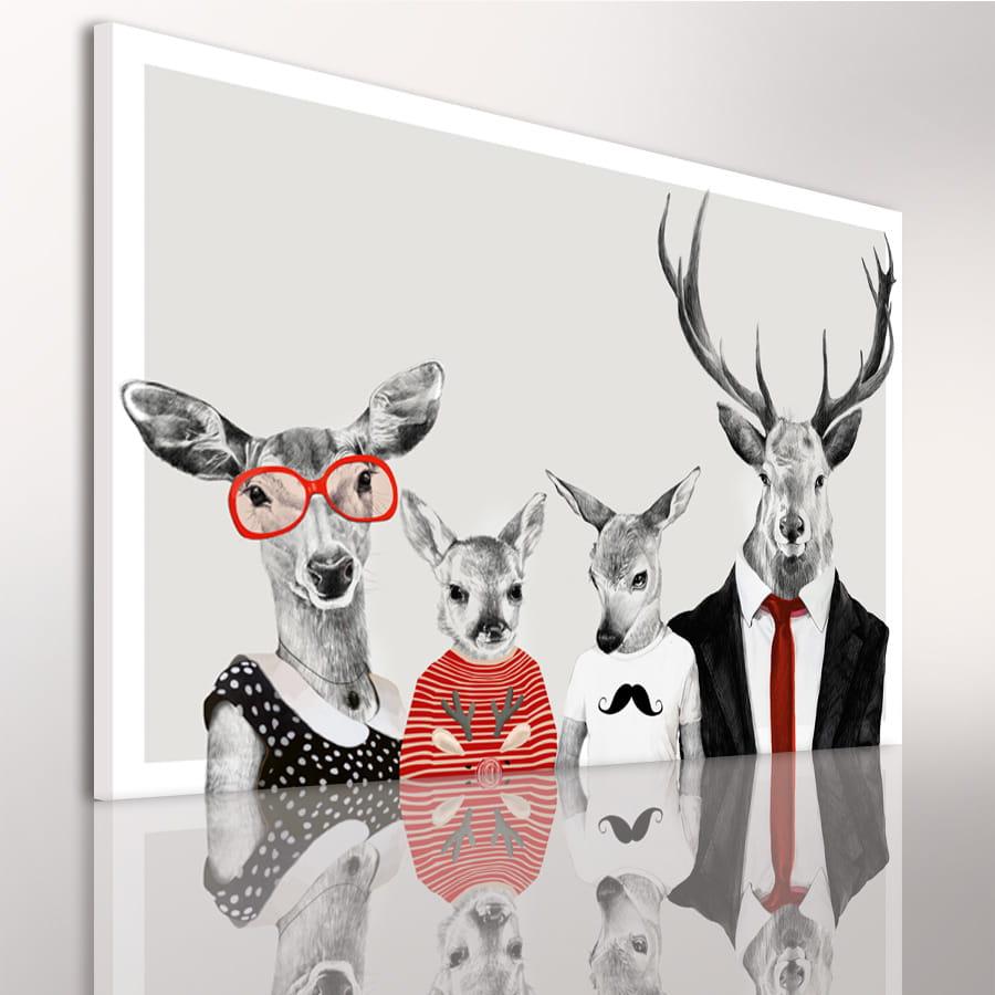 Obraz/ grafika na płótnie Rodzinka jeleni 23