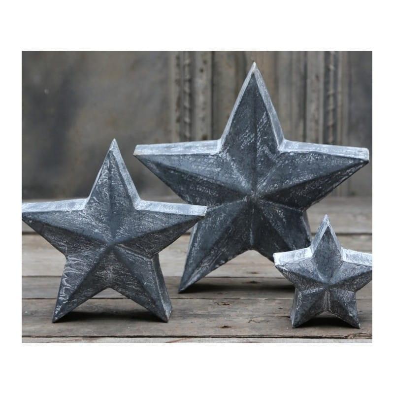 Gwiazda Metalowa Chic Antique 2 19x19 cm 22