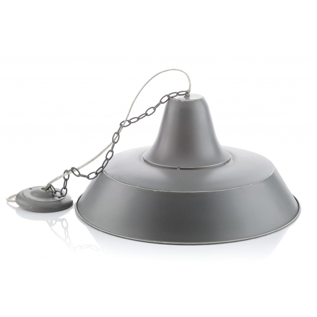 Lampa wisząca ALURO LOGAN szara wysokość 25 cm 22