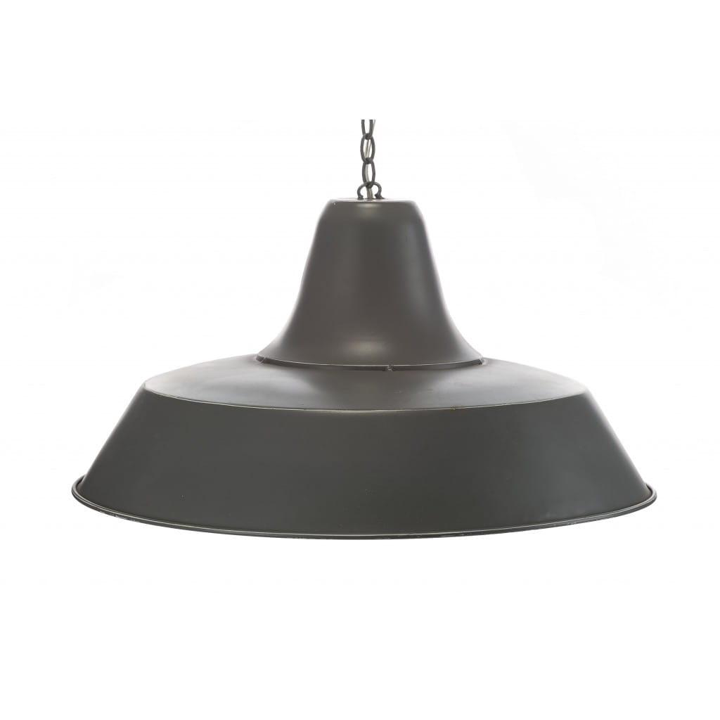 Lampa wisząca ALURO LOGAN szara wysokość 25 cm 25