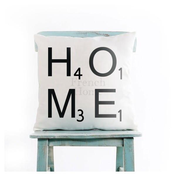 Poduszka ozdobna HOME biała 43 x43 cm 23