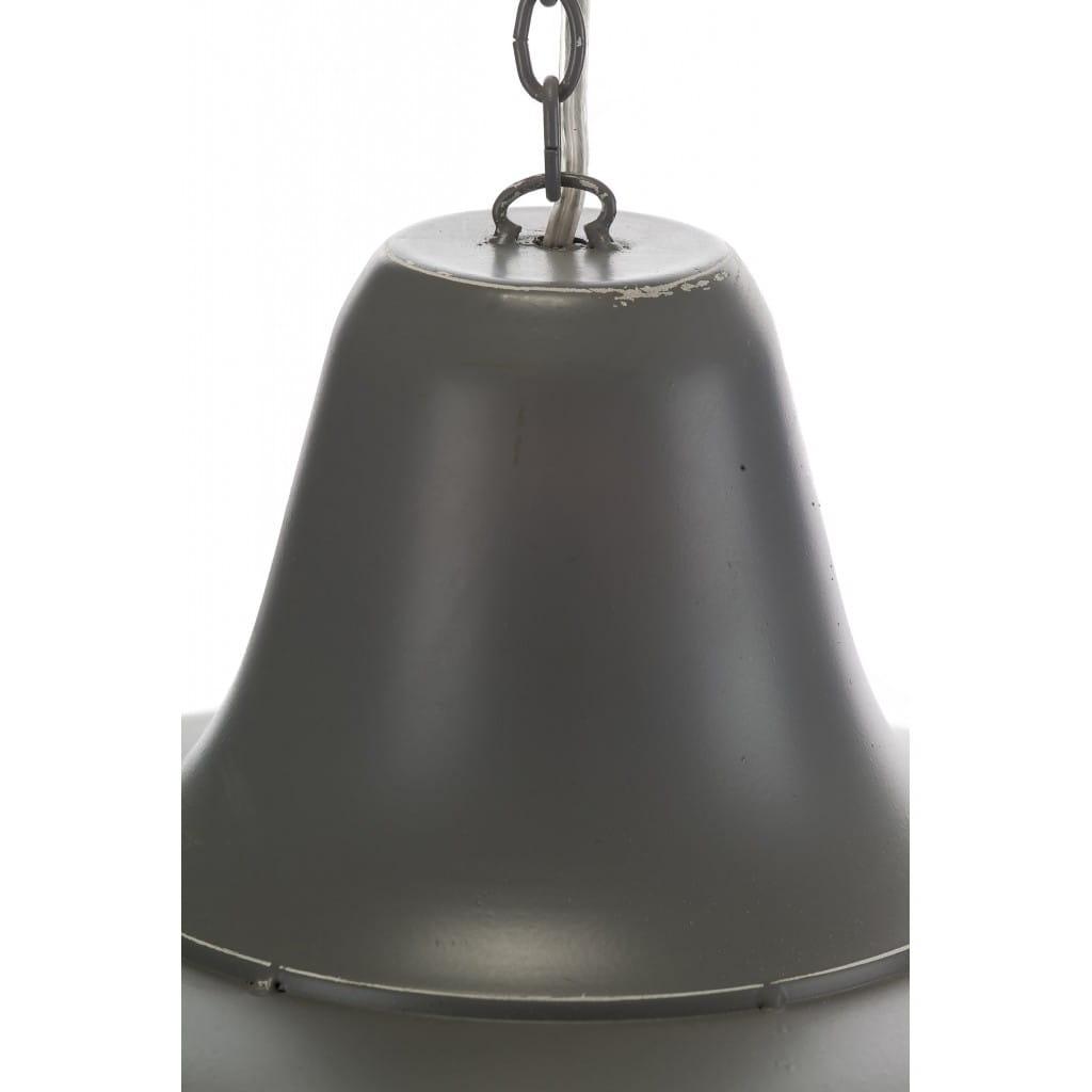 Lampa wisząca ALURO LOGAN szara wysokość 25 cm 23