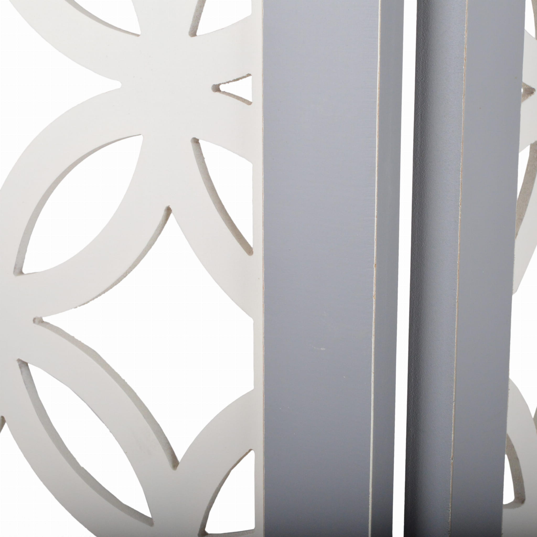Parawan przecierany ażurowy szaro- biały 120x2,2x180 cm 23