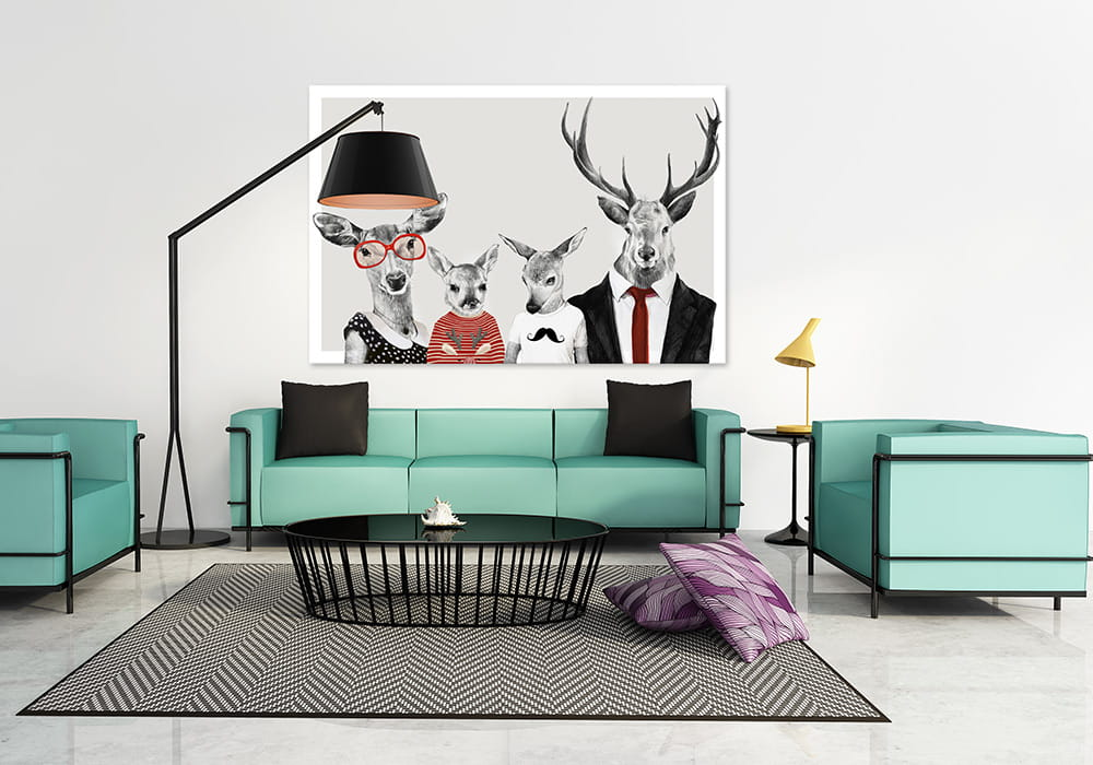 Obraz/ grafika na płótnie Rodzinka jeleni 22