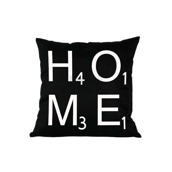 Poduszka ozdobna HOME czarna 43 x43 cm 22
