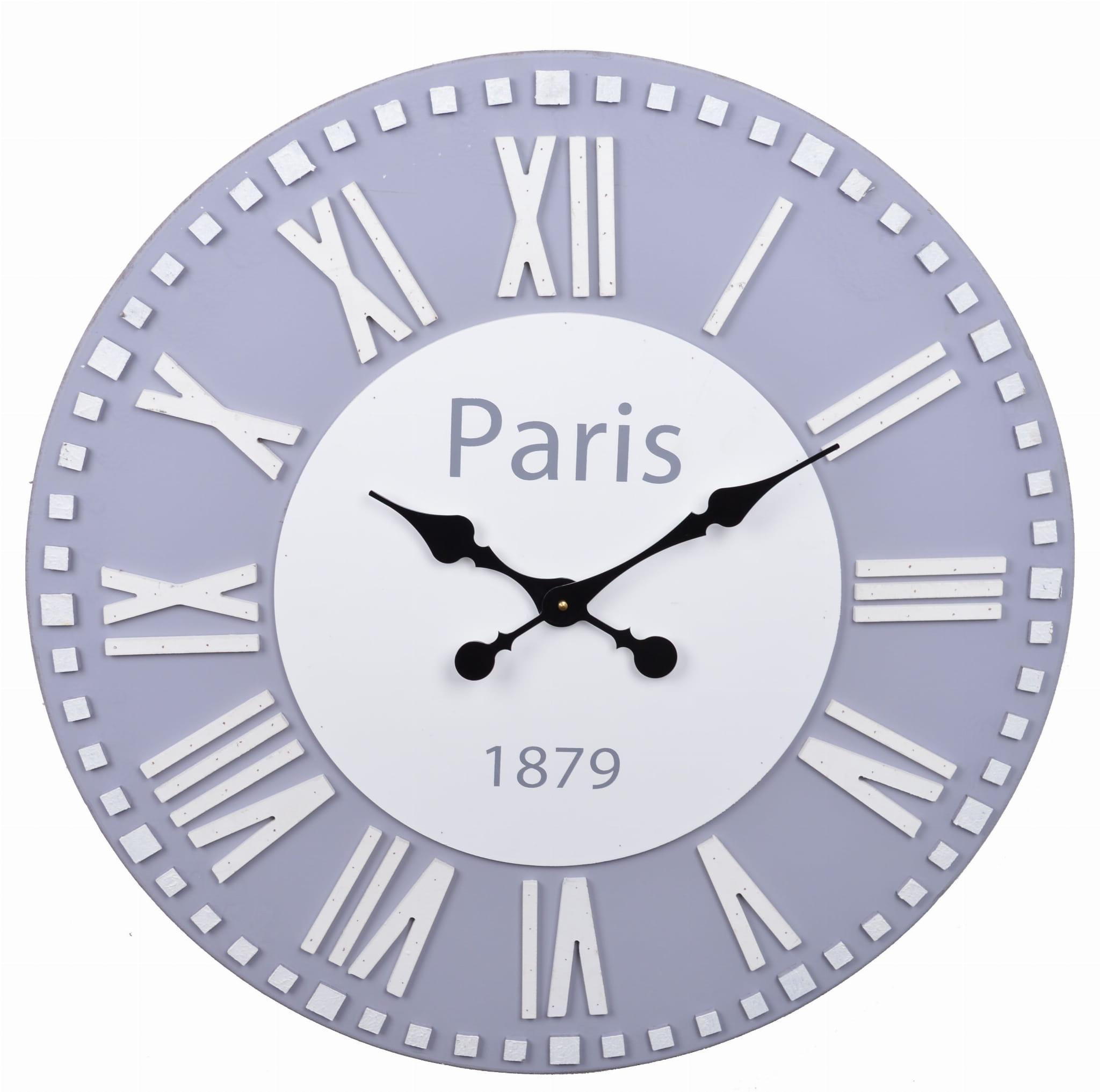 ZEGAR ŚCIENNY MAxI PARIS SZARY 22