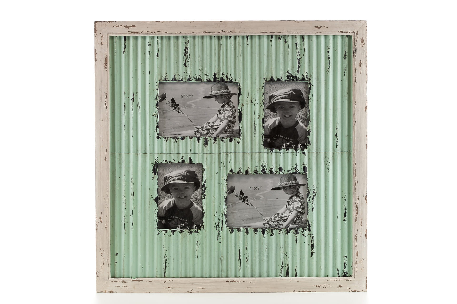 Ramka do zdjęć z metalu ALURO Mazine wysokość 57 cm 22