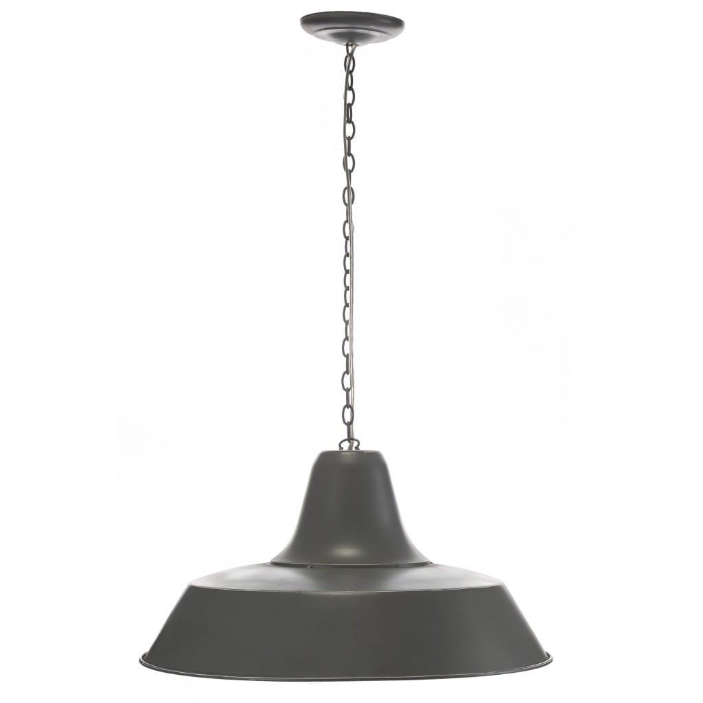 Lampa wisząca ALURO LOGAN szara wysokość 25 cm 26