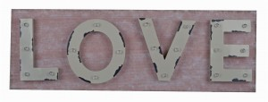 "OBRAZ METALOWY LED ""LOVE"" 90x30 cm"