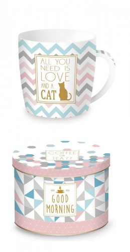 Coffe Or Tea Kubek w puszce 350ml Love and cat